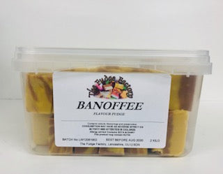 Fudge Factory Banoffee Fudge Bulk Tub 1 x 2kg