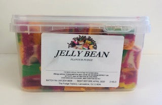 Fudge Factory Jelly Bean Fudge Bulk Tub 1 x 2kg