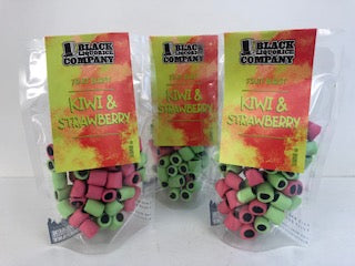 Black Liquorice Company Fruit Burst Kiwi & Strawberry Pre-Pack Bags 6 x 165g