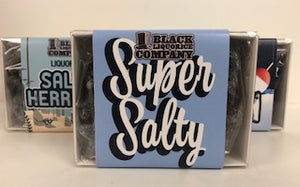 Black Liquorice Company Super Salty Window Box  1 x 125g