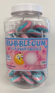 Stantons Wrapped Bubblegum Rock Lollies Jar 1 x 50pk