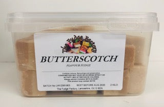 Fudge Factory Butterscotch Fudge Bulk Tub 1 x 2kg