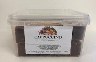 Fudge Factory Cappuccino Fudge Bulk Tub 1 x 2kg
