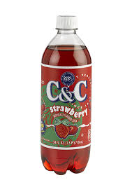 C&C Strawberry Soda 24 x 710ml Bottles