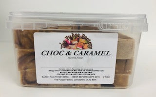Fudge Factory Chocolate & Caramel Fudge Bulk Tub 1 x 2kg