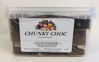 Fudge Factory Chunky Chocolate  Fudge Bulk Tub 1 x 2kg