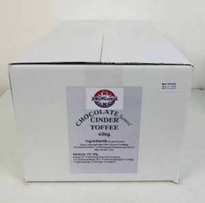Mitre Chocolate Flavoured Coated Cinder Bulk Bag 1 x 3kg