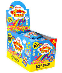 Swizzels Small Rainbow Drops Bags 60 x 10p