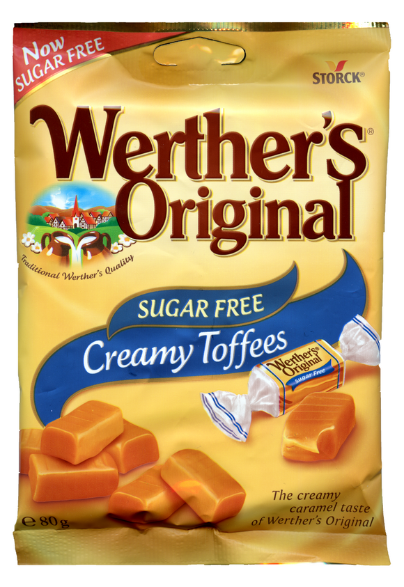 Werthers Original Sugar Free Creamy Toffee Pre-Packs 18 x 80g