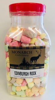 Monarch Confectionery Edinburgh Rock Jar 1 x 2kg
