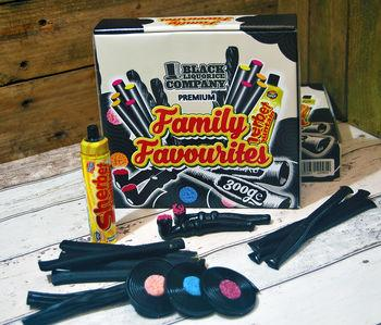 Black Liquorice Company (November Dated) Family Favourites Liquorice Box 40 Piece 1 x 350g