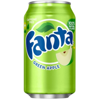 Usa Fanta Green Apple Can 12 x 355ml