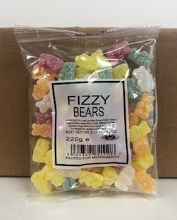 Unbranded Fizzy Bears Pre Pack Bag 24 x 220g