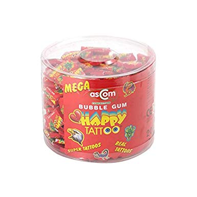 Happy Tattoo Gum Tub 200 x 5p