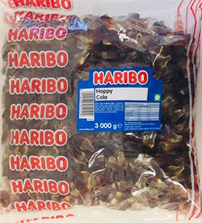Haribo Happy Cola Bottles 3kg Bag