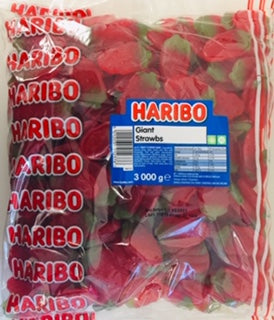 Haribo Giant Strawberries 3kg Bag