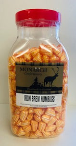 Monarch Confectionery Iron Brew Humbugs Jar 1 x 3kg
