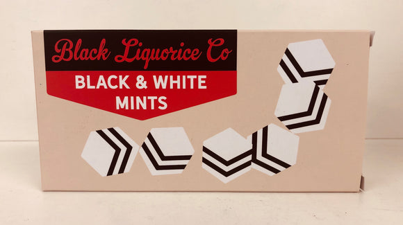 Black Liquorice Company Vintage Black & White Box 12 x 125g