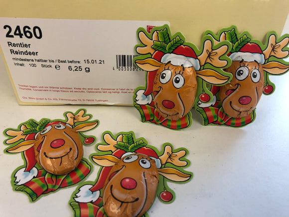 Orion Milk Chocolate Carded Reindeer 6.25g x 100pk