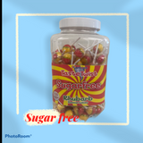 Stantons Rhubarb Sugar Free Wrapped Lollies Jar 1 x 150pk