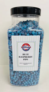 Mitre Confectionery Blue Raspberry Pips Jar 1 x 2.75kg
