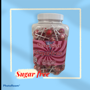 Stantons Cherry Sugar Free Wrapped Lollies Jar 1 x 150pk