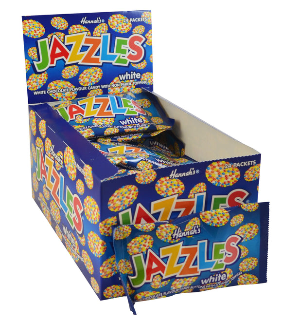 White Chocolate Flavour Jazzles Bags 24pk