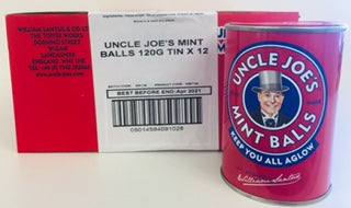 Uncle Joes Mint Ball Tins 12 x 120g
