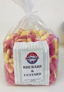 Mitre Confectionery Rhubarb & Custard s Poly Bag 1 x 3kg