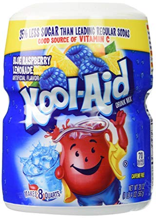 Kool Aid Blue Raspberry Lemonade Sweetened Tub 1 x 538g