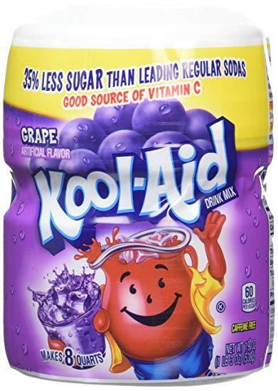 Kool Aid Grape Sweetened Tub 1 x 538g
