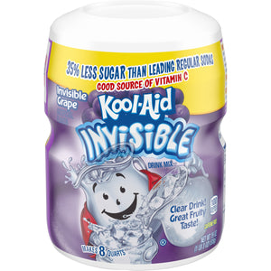 Kool Aid Invisible Grape Sweetened Tub 1 x 538g