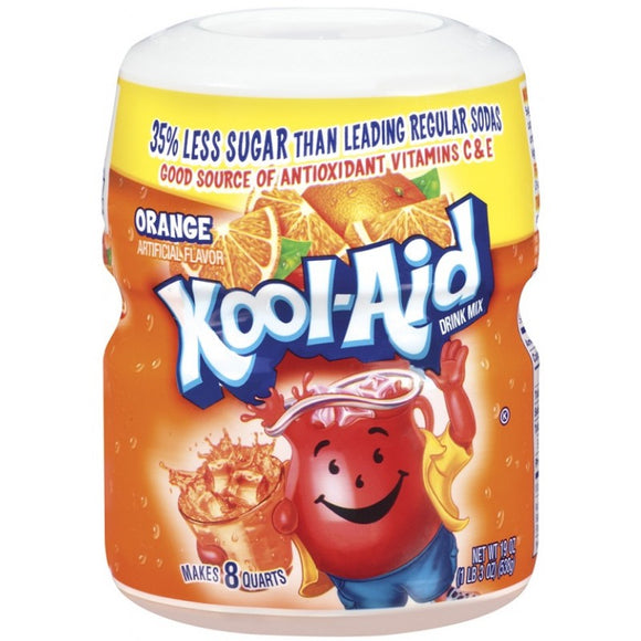 Kool Aid Orange Sweetened Tub 1 x 538g
