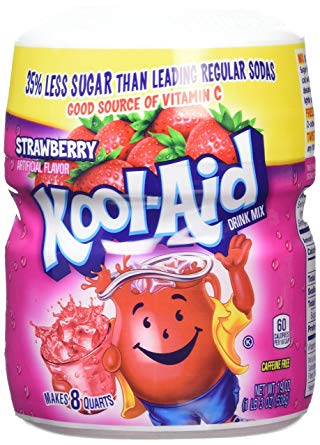 Kool Aid Strawberry Sweetened Tub 1 x 538g