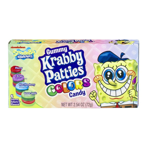 Krabby Patties Colors Candy Theatre Boxes 12 x 72g