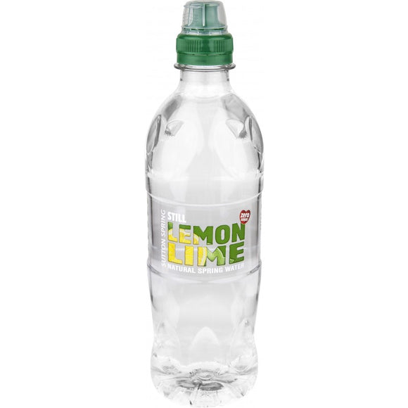 Sutton Spring Lemon And Lime Flavoured Water Sports Cap  12 x 500ml
