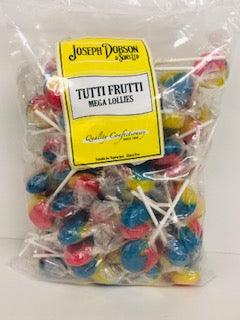 Joseph Dobson Wrapped Mega Lollies Tutti Frutti Poly Bag 1 x 80pk 1.85kg