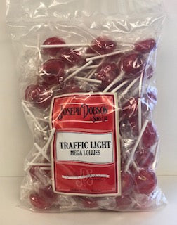 Joseph Dobson Wrapped Mega Lollies Traffic Light Poly Bag 1 x 80pk 1.85kg