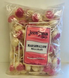 Joseph Dobson Wrapped Mega Lollies Marshmallow Poly Bag 1 x 80pk 1.85kg