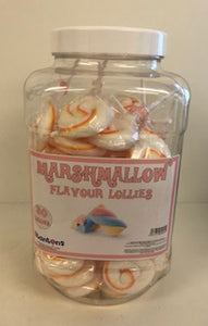 Stantons Wrapped Marshmallow Rock Lollies Jar 1 x 50pk
