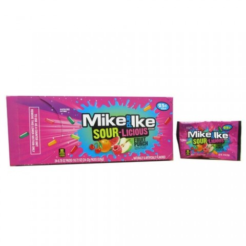 Mike & Ike Sour-Licious Fruit Punch Mini's 24 x 22g