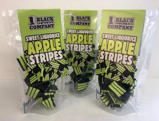 Black Liquorice Company Apple Stripes Pre-Pack Bags 6 x 175g