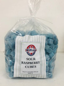 Mitre Confectionery Sour Raspberry Cubes Poly Bag 1 x 3kg