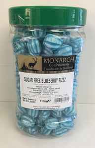 Monarch Confectionery Sugar Free Blueberry Fizz 1 x 1.2kg
