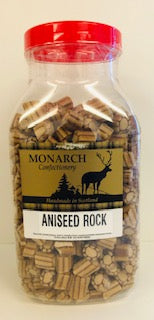 Monarch Confectionery Aniseed Rock Jar 1 x 3kg