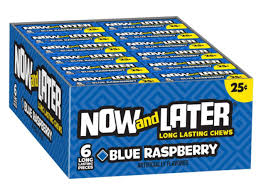 Now & Later Blue Raspberry Minis 24 x 26g
