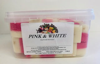Fudge Factory Pink & White Nougat Bulk Tub 1 x 2kg