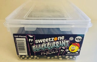 Sweetzone Blackcurrant Pencils 100 x 10p