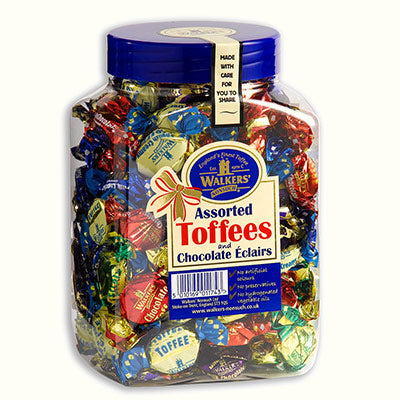 Walkers Nonsuch Assorted Toffee & Eclairs Jar 1 x 1.25kg