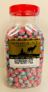 Monarch Confectionery Raspberry Fizz Balls Jar 1 x 3kg